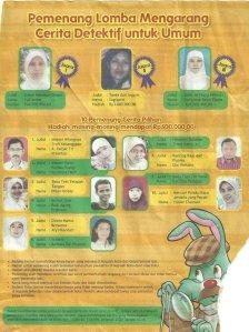 Pengumuman pemenang lomba cernak misteri majalah bobo tahun 2009